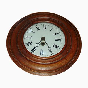 Vintage Wall-Mounted Wooden Clock from D.C.