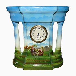 Horloge de Cheminée Vintage en Porcelaine