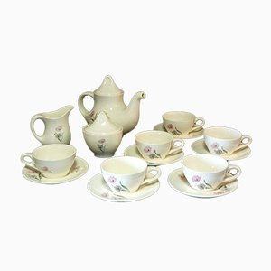 Ceramic Tea Service by Antonia Campi for Verbanum Stone, 1950s