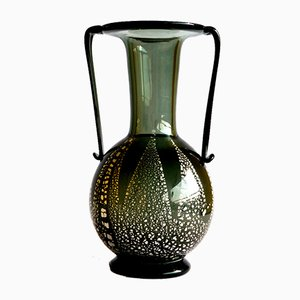 Vintage Murano & Aventurine Glass Vase by Fratelli Toso, 1930s