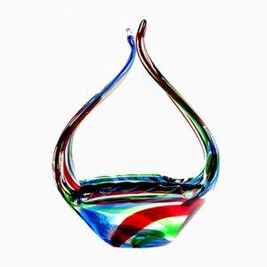 Murano Glas Schale von Bianconi für Seguso, 1950er