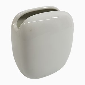Weiße Vase von Rosenthal, 1950er