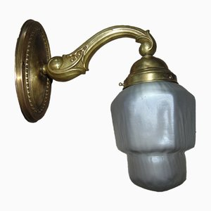 Art Nouveau Brass Sconce