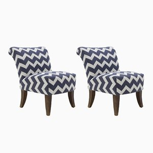 Stained Beech Lounge Chairs, 1950s, Set of 2