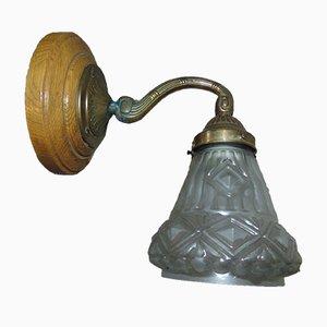 Art Nouveau Brass Sconce