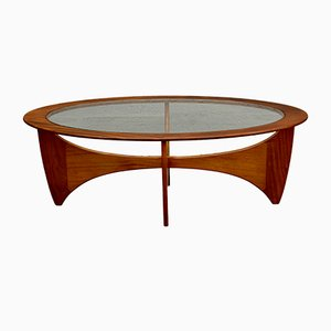 Mid-Century Oval Teak Astro Coffee Table by Victor Wilkins for G-Plan
