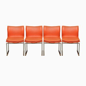 Mid-Century Low Back Epee Dining Chairs by Hillary Birkbeck for Pieff, Set of 4