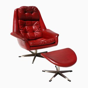 swivel chair ottoman by h w klein for bramin 1960s for sale at