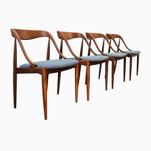 Vintage Esszimmerstühle von Johannes Andersen für Uldum Møbelfabrik, 4er Set