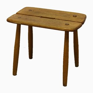 Scandinavian Mid-Century Wood Stool