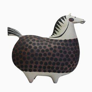 Großes Vintage Keramik Pferd von Stig Lindberg für Gustavsberg
