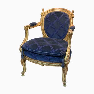 Butaca estilo Louis XV, siglo XIX