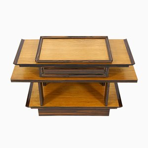 Art Deco Sycamore & Maple Console Table by A.H. Zinsmeister for Gebroeders Reens, 1930s
