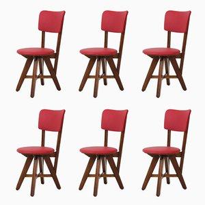 Eichenholz Mid-Century Modern Stühle, 1950er, 6er Set