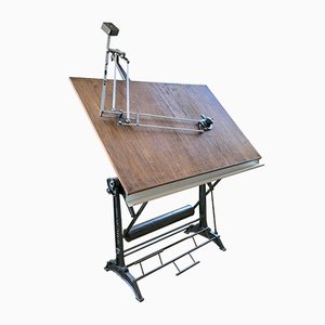 Vintage Drafting Table with Kuhlmann Pantograph from Unic