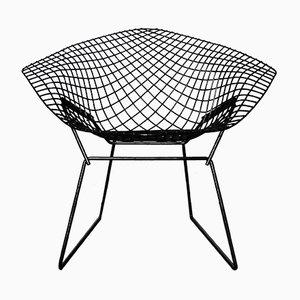 Model 421 Black Diamond Chair by Harry Bertoia for Knoll International, 1950s