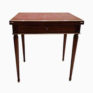 Antiker Mahagoni Spieltisch