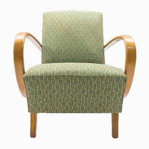 Armchairs in Green by Jindřich Halabala for UP Závody, 1930s, Set of 2