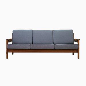 Dänisches Vintage Sofa mit grauem Bezug