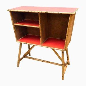 Mueble bar vintage de bambú