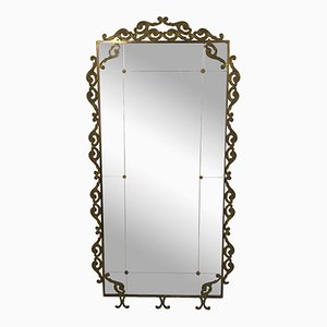 Grand Miroir de Pied Vintage en Laiton, Italie