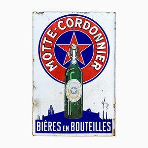 Antike doppelseitiges Emaille Bier Schild