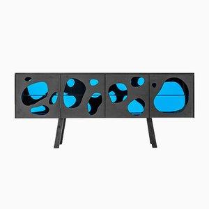 Meuble Aquário Cabinet I Gris et Bleu par Campana Brothers pour BD Barcelona