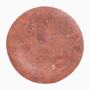 Vassoio Bramante in marmo rosso Mexico di Stories of Italy