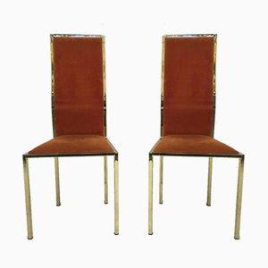 Chaises de Salle à Manger Vintage Laquées Dorées, Set de 6