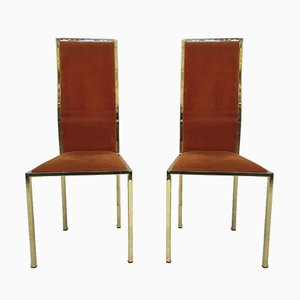 Gold lackierter Vintage Esszimmerstühle, 6er Set