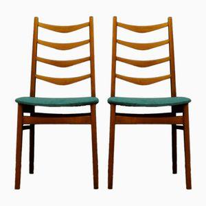 Dänische Vintage Teak Stühle, 2er Set