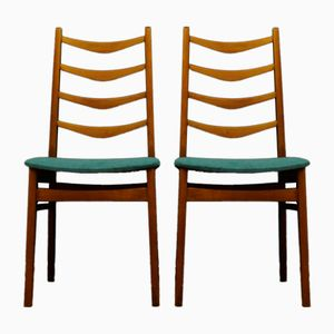 Vintage Danish Teak Chairs, Set of 2