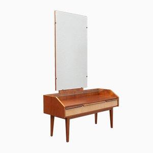 Tocador bicolor con espejo, años 50