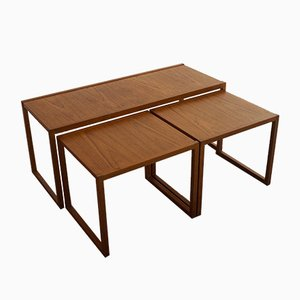 Teak Nesting Tables by Kai Kristiansen for Vildbjerg Møbelfabrik, 1960s