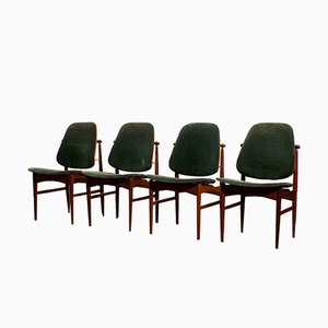 Mid-Century Dining Chairs by Arne Vodder for France & Daverkosen, Set of 4