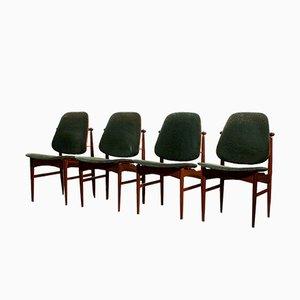 Mid-Century Esszimmerstühle von Arne Vodder für France & Daverkosen, Set of 4