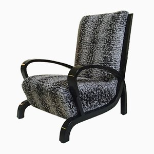 Bauhaus Black Armchair in Fabric, 1920s
