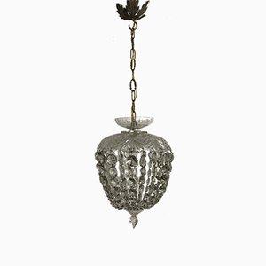 Lampe à Suspension Vintage en Cristal, Italie