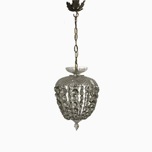 Vintage Italian Crystal Light Pendant