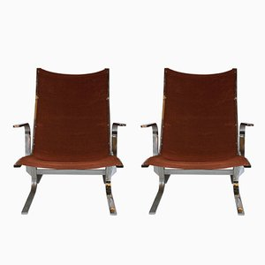 Swedish Armchairs by Ingmar Relling for Westnofa, 1970s, Set of 2