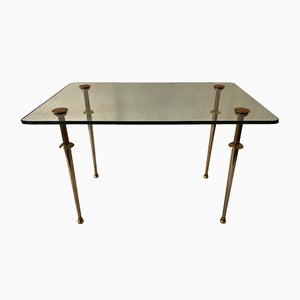 Vintage Glass & Brass Coffee Table