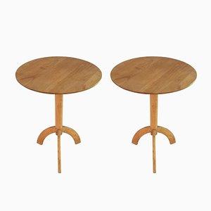 Mesas de centro de madera, años 80. Juego de 2