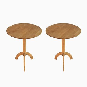 Wooden Coffee Tables, 1980s, Set of 2