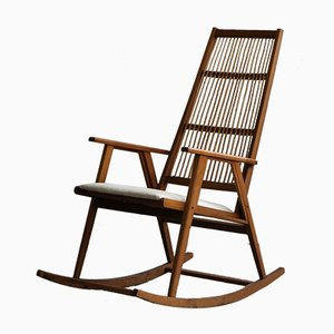 Vintage Rattan Rocking Chair
