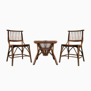 Bamboo Garden Set by Franco Albini, 1950s