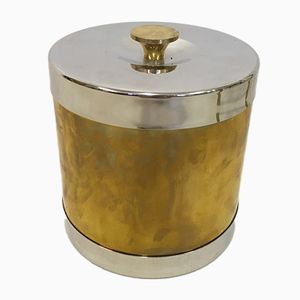 Vintage Italian Brass Ice Bucket from Teghini Firenze