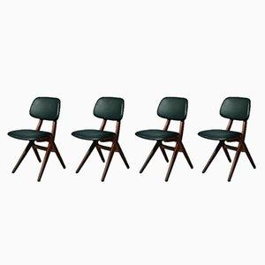 Pelican Chairs by Louis van Teeffelen for Wébé, 1950s, Set of 4