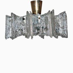 Vintage Dispersion Glass Chandelier from Stölzle