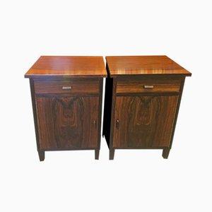 Danish Rosewood Bedside Tables, 1930s, Set of 2