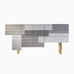 Shanty Schrank Modell B in Graue und Weiß Winter von Doshi Levien für BD Barcelona